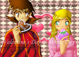 Digimon Frontier Valentine's Day and White Day by Galistar07water