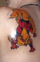 Arcanine Tattoo by LastHarliquin