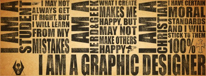 I am a Graphic Designer facebook timeline cover by justicedefender
