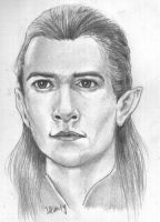Legolas Lord of The Rings by ihsans-Art