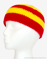 Red + Yellow Beanie by Skarlet-Raven