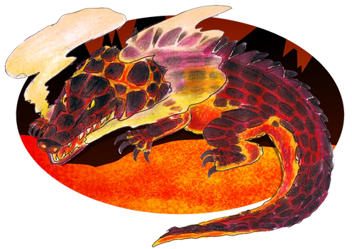 CDC June Day 17: Lava monster by StarMonyII