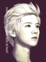 Luhan phone drawing by SMoran