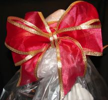 Red Gold Christmas Bow 2 by FantasyStock