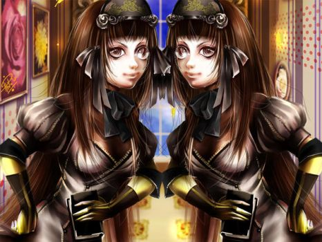 wallpaper twins by Philiera