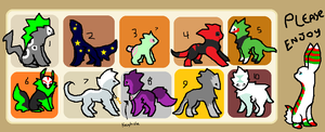 Free Adoptables Batch 14 by Petit-Pets