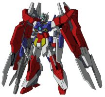 AGE-2DC Gundam AGE-2 Double Blade (MS mode) by unoservix