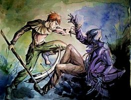Jack Candles vs. Scarecrow by AllyEdFrown