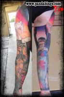 Evangelion Sleeve Tattoo Eva by xJoshxSxE