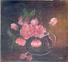 Flowers in glass pitcher by mbart
