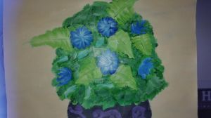 A bouquet of blue flowers by xArvax
