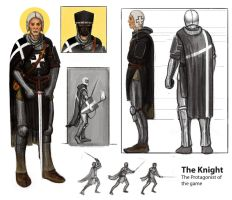 The Knight Final design model sheet by MattNB