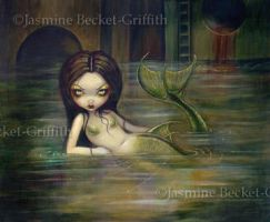 Sewer Mermaid by jasminetoad