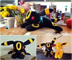 Umbreon Plushie by Rylonn