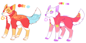 candy wolf adoptables // [ CLOSED ] by snarkbait