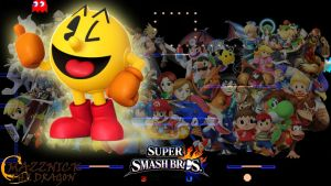 SSB4 Wallpaper Pac-Man by Mazznick