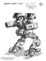 MechWarrior 4 Arctic Wolf by Mecha-Zone