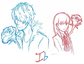 Ib: Blue and Red