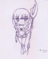 Sketch Chibi Sailor Saturn by MistyQue