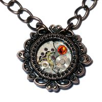 Steampunk Victorian Pendant by CatherinetteRings