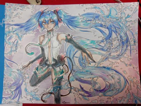 Hatsune Miku Append -water- by X-Anonyme-X