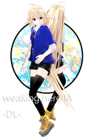 -MMD- Late IA BD Gift - Weakling Hero IA DL by AuroraYok