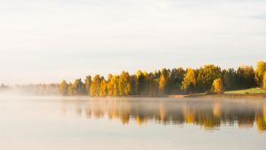 Autumn lake by JuhaniViitanen