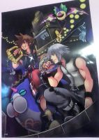 Kingdom Hearts 3D: Dream Drop Distance Poster by Petpettails123
