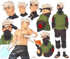 Kakashi sketches by Jazzie560