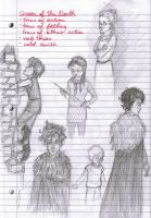 Game of Thrones - Stark Children Sketches by dot-dashlee
