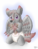 Winged pup by Lincub