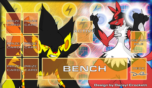 PKMN Playmat: Sparkly Knuckles by ideallyRANDOM