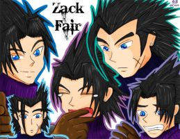The Many Faces of Zack Fair by LiliNeko