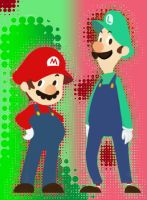 MARIO AND LUIGI Dots by b2vincent