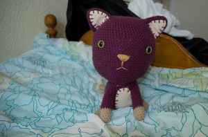 amigurumi cat by kaelby