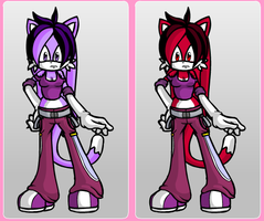 Violet Rose The Cat and Ruby Rose The Cat by RoninHunt0987