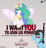 I Want You to Join Us Ponies by wolfjedisamuel