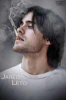 Jared Leto Smokes by Kalissa22