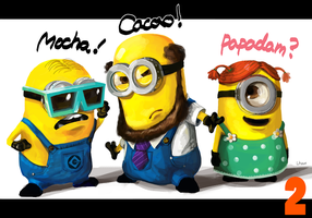 Minions save the world! by Lhax