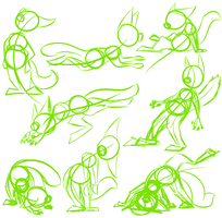 Action Line Sketches by AttackTheMap