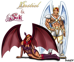 Bastiel and Suki by Hazy-b