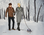 Out for a walk with Stanley [for Saras_girl] by Isi-Angelwings