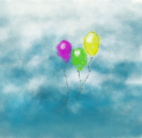Balloons in the Sky by Explosion245