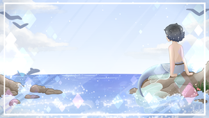 {Background} Seaside Mermaid by KodaConstellation