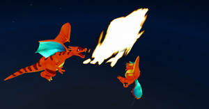 MMD Newcomer Charizardtwo + DL by Valforwing