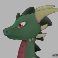 Dragon in Profile by OEmilyThePenguinO