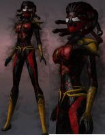 CoH: Symbiote Spider-Woman by OrionSTARB0Y