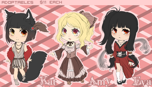 Chibi Batch 01 [2 AVAILABLE] by LanaluAdopts