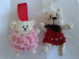 Knitted Teddy Things by kizgoth