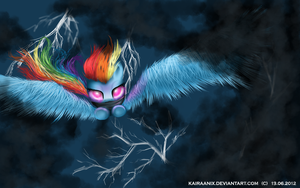 Fear of the Dark - Rainbow Dash by KairaAnix